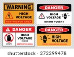 High Voltage Sign Or Electrica...