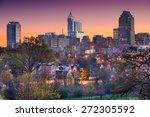Small photo of Raleigh, North Carolina, USA skyline.