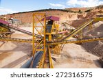 gravel aggregate extraction   ... | Shutterstock . vector #272316575