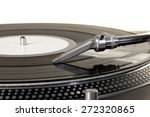turntable  record  stereo. | Shutterstock . vector #272320865