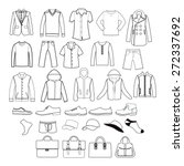 vector icons set of fashion man ... | Shutterstock .eps vector #272337692