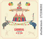 set of circus flat icons | Shutterstock . vector #272338202