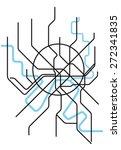 moscow metro map | Shutterstock .eps vector #272341835