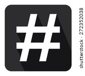 black square hashtag  tag long... | Shutterstock . vector #272352038