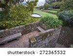 park scene with fountain in... | Shutterstock . vector #272365532