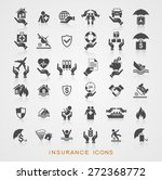 set insurance icons. file is... | Shutterstock .eps vector #272368772
