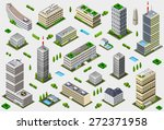 isometric building city palace... | Shutterstock .eps vector #272371958