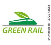 Vector Sign Railway And Green...