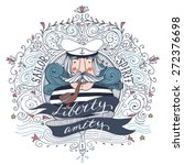 hand drawn vintage label with a ... | Shutterstock .eps vector #272376698