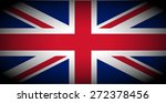 vignetted flag of the UK aka Union Jack - stock photo