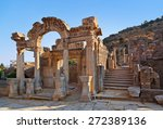 Ancient Ruins In Ephesus Turke...