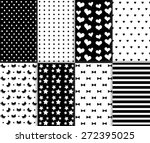 set of cool abstract seamless... | Shutterstock .eps vector #272395025