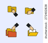 folder icons with hands | Shutterstock .eps vector #272402828