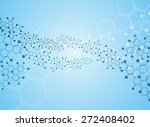 abstract molecules medical... | Shutterstock .eps vector #272408402