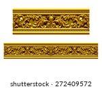 golden ornamental segment  ... | Shutterstock . vector #272409572