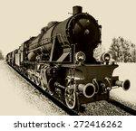 Old Steam Engine Locomotive...