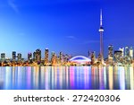 the reflection of toronto... | Shutterstock . vector #272420306