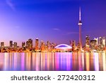 the reflection of toronto... | Shutterstock . vector #272420312