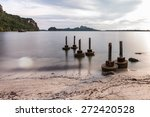 Cement Pilings Leftover From A...