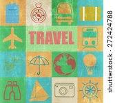vintage travel posters set  ... | Shutterstock . vector #272424788