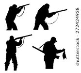 vector silhouettes of hunters... | Shutterstock .eps vector #272424938