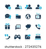 social communications icons   ... | Shutterstock .eps vector #272435276