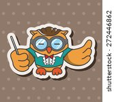 animal owl playing instrument... | Shutterstock .eps vector #272446862