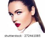 high fashion look.glamor... | Shutterstock . vector #272461085