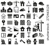 black icons on  white... | Shutterstock .eps vector #272463128