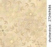 3d pattern  flowers  seamless | Shutterstock . vector #272469686