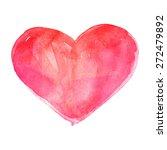 heart. watercolor vector... | Shutterstock .eps vector #272479892