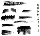 vector set of grunge brush... | Shutterstock .eps vector #272491832