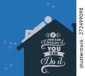 sleep design over blue...   Shutterstock .eps vector #272499098
