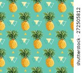 geometric pineapple background  ... | Shutterstock .eps vector #272505812