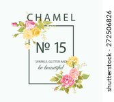floral graphic design   for t... | Shutterstock .eps vector #272506826