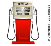 red petrol station in usa | Shutterstock .eps vector #272508896