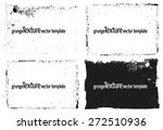 grunge frame and texture set    ... | Shutterstock .eps vector #272510936