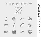 food and drink thin line icon... | Shutterstock .eps vector #272517965