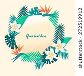 template with palm leaves and...   Shutterstock .eps vector #272519912
