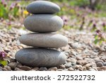 stone pyramid on the lake's... | Shutterstock . vector #272522732