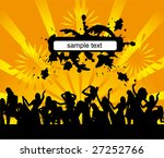 everyone dancing and having fun.... | Shutterstock .eps vector #27252766