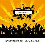 everyone dancing and having fun....   Shutterstock .eps vector #27252766