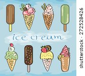 ice cream collection. hand... | Shutterstock .eps vector #272528426