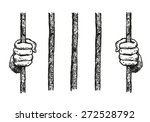 prisoner hands on a bar hand... | Shutterstock .eps vector #272528792