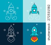 starting rocket illustration.... | Shutterstock .eps vector #272531582