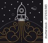 starting rocket illustration....   Shutterstock .eps vector #272531585