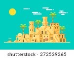 desert village middle east mud... | Shutterstock .eps vector #272539265