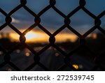 chain link fence with depth of... | Shutterstock . vector #272539745