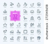 thin lines web icon set   spa   ... | Shutterstock .eps vector #272545658