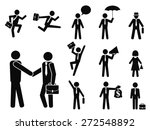 businessman pictogram icons set | Shutterstock .eps vector #272548892